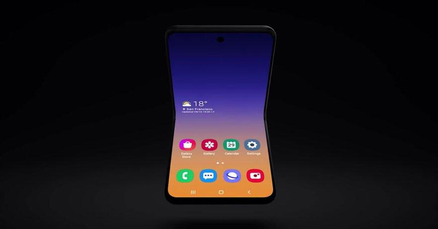 Samsung foldable clamshell flip phone via Revu Philippines