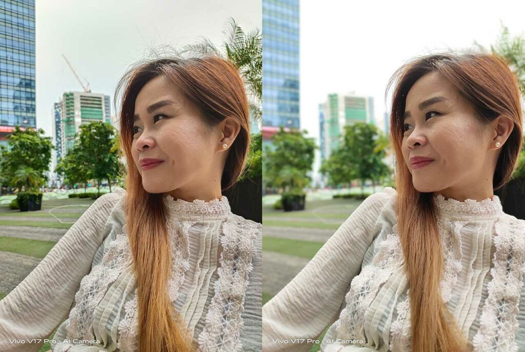 Vivo V17 Pro sample person pictures: Auto mode vs Portrait mode in review by Revu Philippines