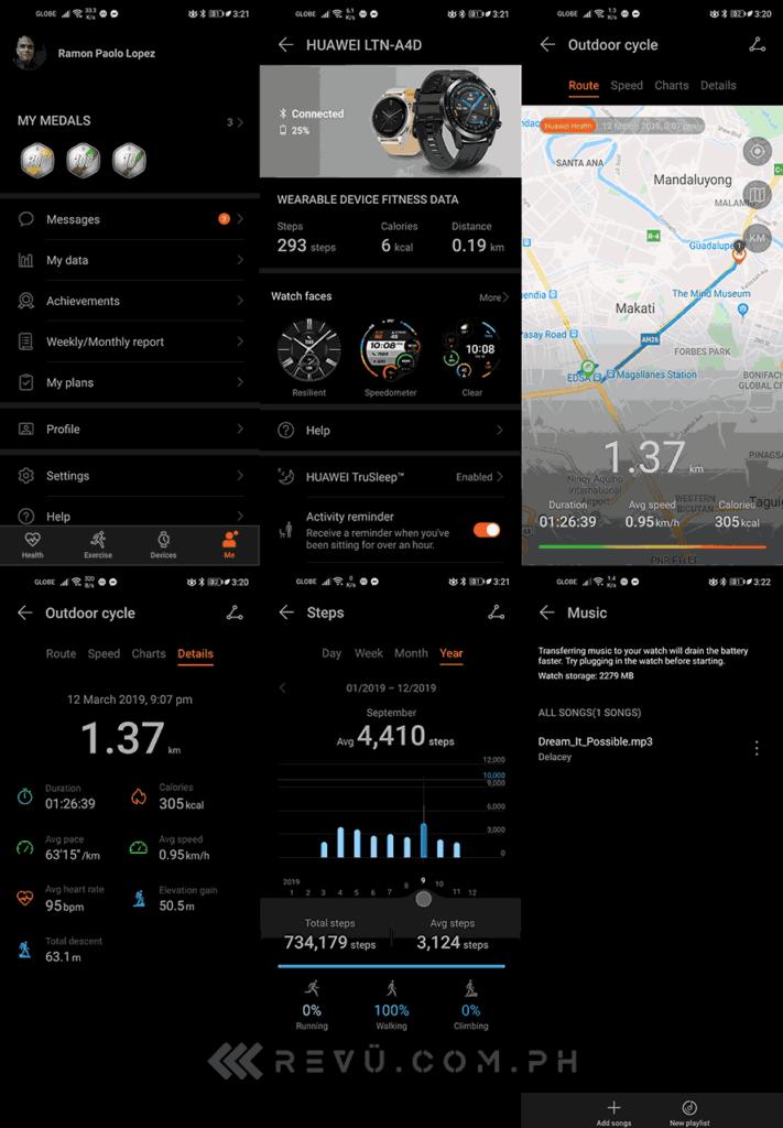 Huawei Health + Huawei Watch GT 2 screenshots by Revu Philippines