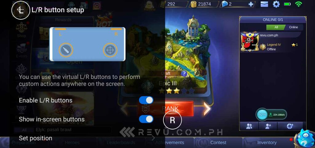 Huawei Mate 30 Pro virtual gaming buttons or keys via Revu Philippines