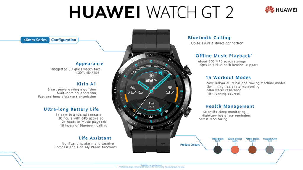 Huawei Watch GT 2 detailed features and price via Revu Philippines