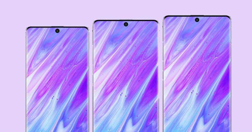 Samsung Galaxy S11 series image renders by Ben Geskin via Revu Philippines
