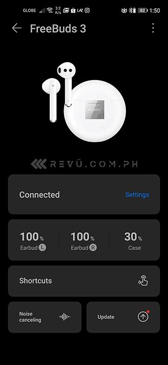 Huawei FreeBuds 3 with AI Life app via Revu Philippines