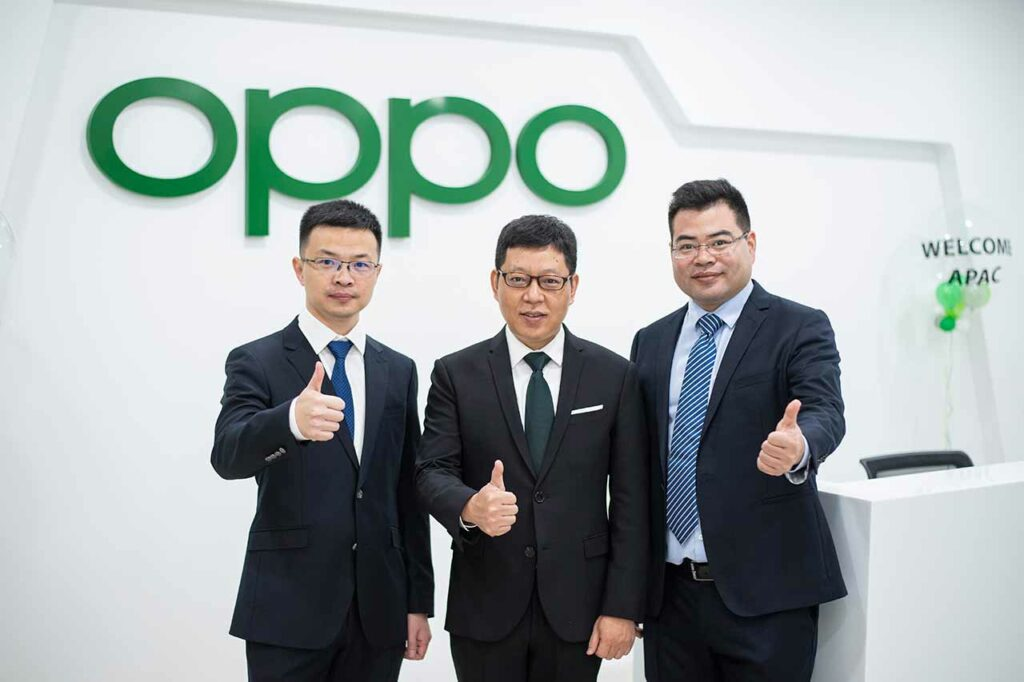 Jimmy Yi, Alen Wu, and Bobee Liu at the OPPO APAC Region hub launch in Malaysia via Revu Philippines