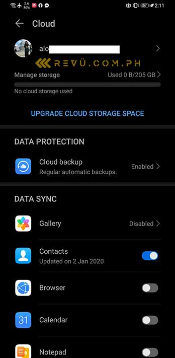 Huawei Mate 30 Pro cloud storage via Revu Philippines