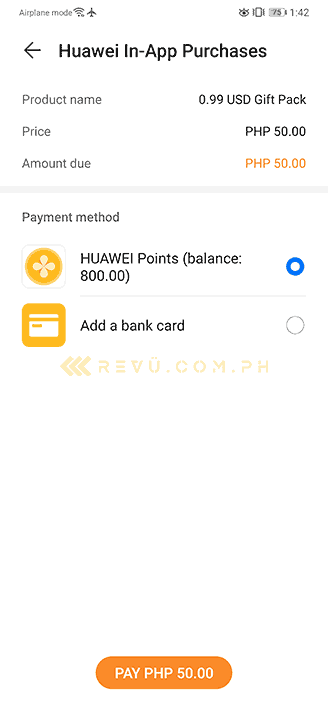 Huawei in-app purchases in AppGallery plus our Huawei points by Revu Philippines
