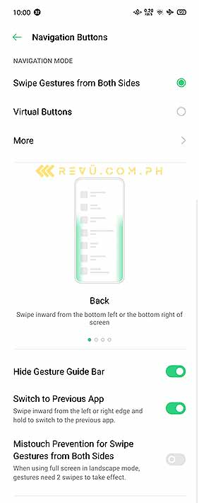 OPPO ColorOS 7 navigation mode buttons via Revu Philippines