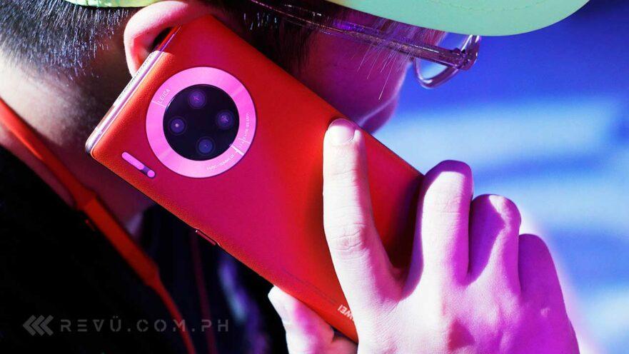 Huawei Mate 30 Pro 5G Vegan Orange color's price, specs, and postpaid plans via Revu Philippines