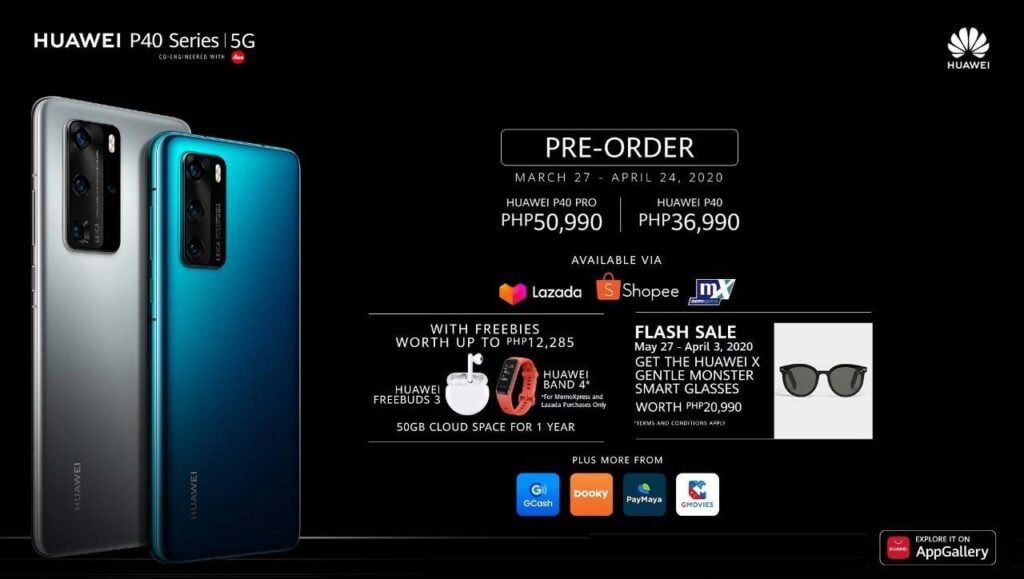 Huawei P40, Huawei P40 Pro, and Huawei P40 Pro Plus: Prices, specs, and preorder details and freebies via Revu Philippines