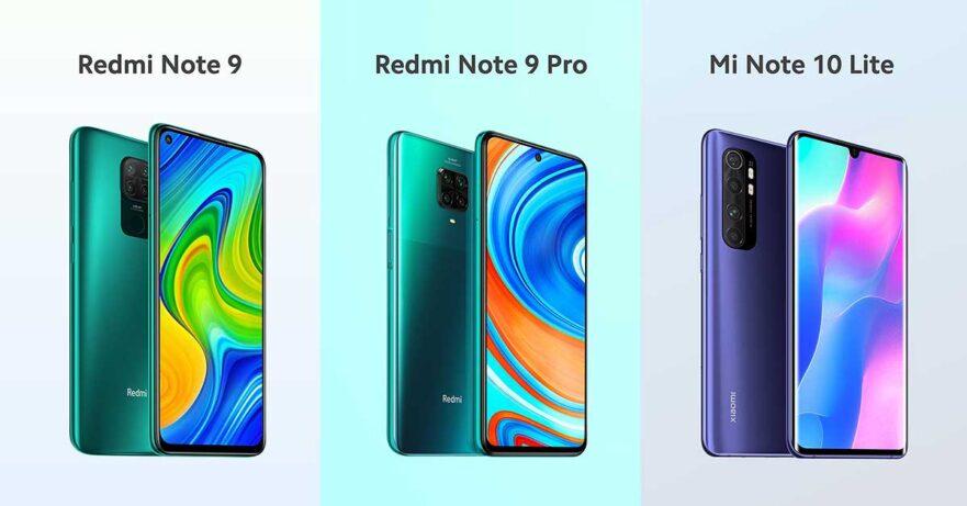 Xiaomi Redmi Note 9, Redmi Note 9 Pro, and Mi Note 10 Lite price and specs via Revu Philippines