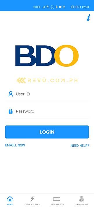 BDO banking app on the Huawei P40 Pro via AppGallery via Revu Philippines