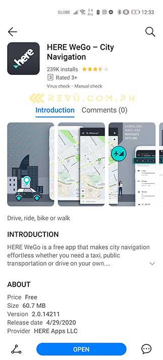 Huawei Here WeGo app: A Google Maps alternative on AppGallery via Revu Philippines