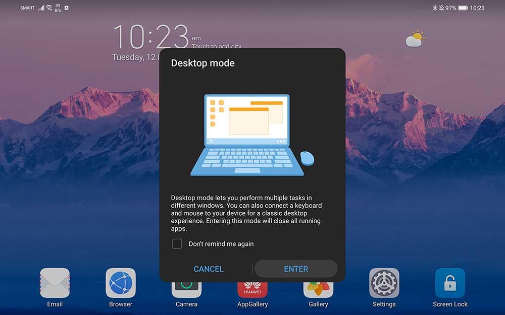 Huawei MatePad Pro in desktop mode via Revu Philippines
