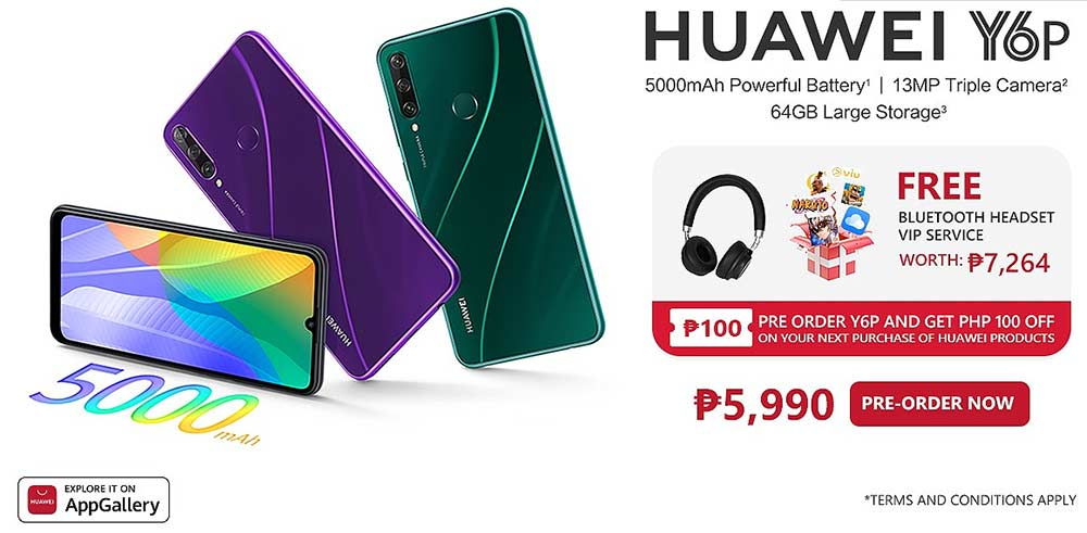 Huawei Y6p price and preorder details and freebies via Revu Philippines