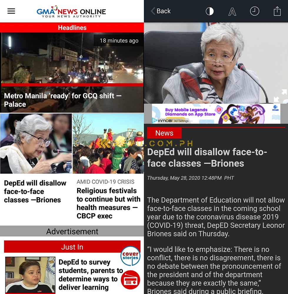 GMA News on the Huawei Y7 AppGallery via Revu Philippines