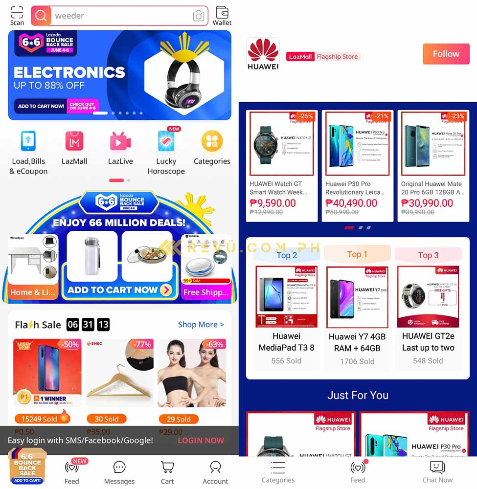 Lazada on the Huawei Y7 AppGallery via Revu Philippines