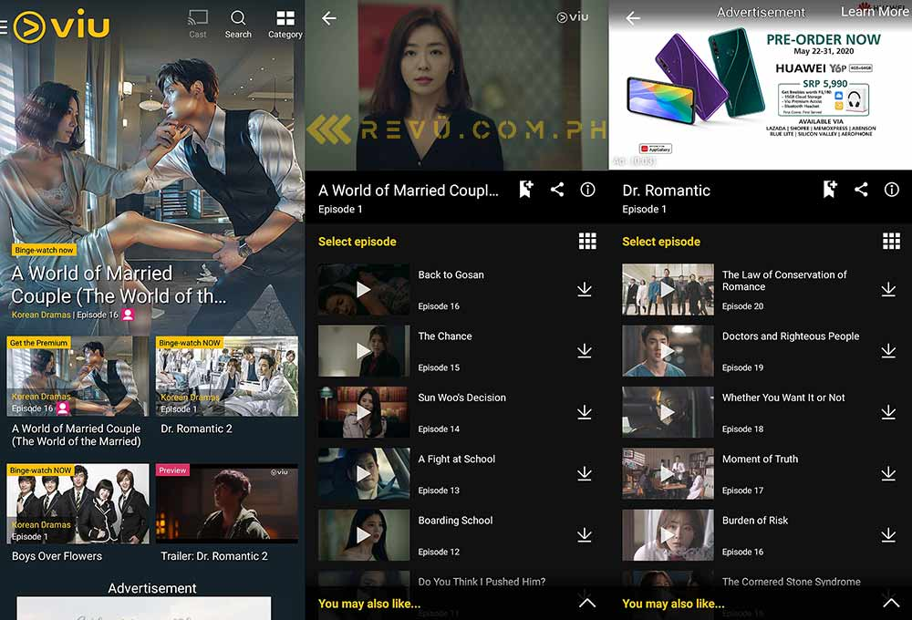 Viu on the Huawei Y7 AppGallery via Revu Philippines