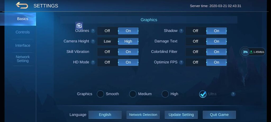 OPPO Reno 3 Pro Mobile Legends game settings by Revu Philippines