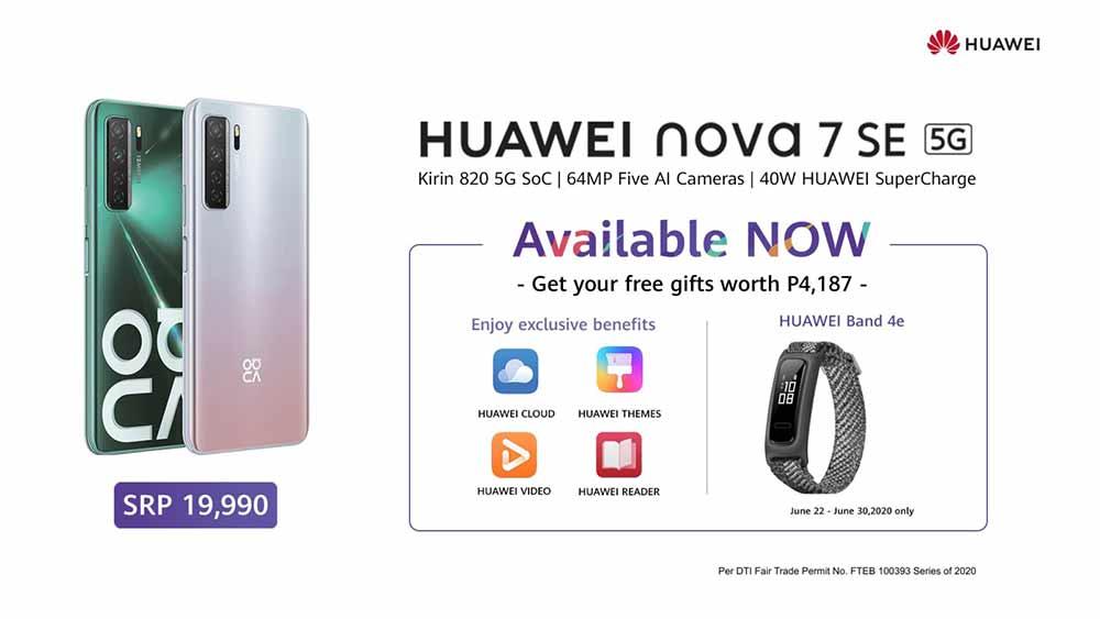 Huawei Nova 7 SE 5G availability, price, specs, and freebies via Revu Philippines