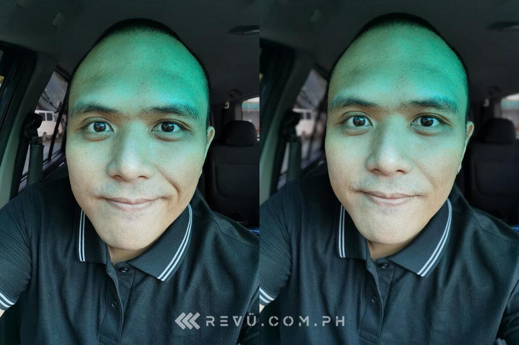 Huawei P40 Pro Plus sample daytime selfie pictures comparison: auto vs portrait by Revu Philippines