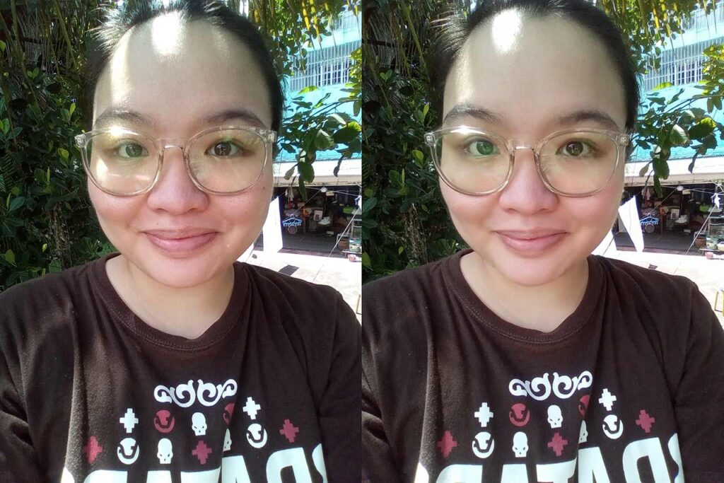 Huawei Y5p sample selfie pictures: Auto mode vs Beauty mode by Revu Philippines