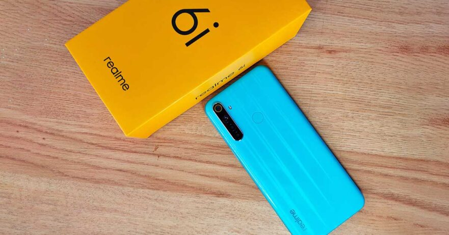 Realme 6i Blue Soda color variant's price and specs via Revu Philippines