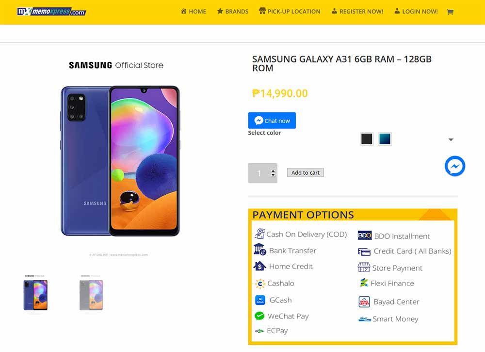 Samsung Galaxy A31 price and specs via Revu Philippines
