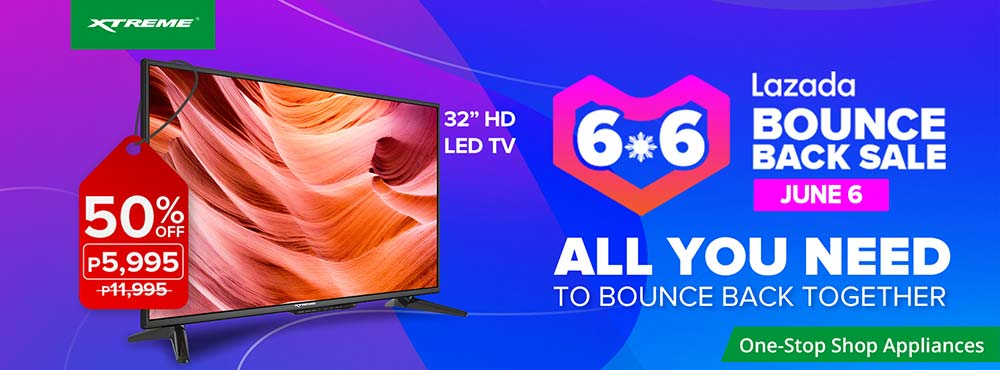 Xtreme Appliances Lazada 6.6 Bounce Back Sale via Revu Philippines