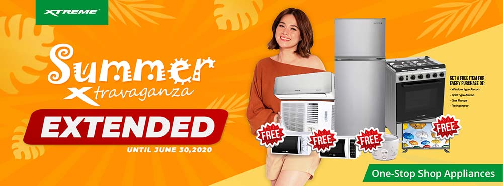 Xtreme Appliances Summer Xtravaganza promo deals extension via Revu Philippines