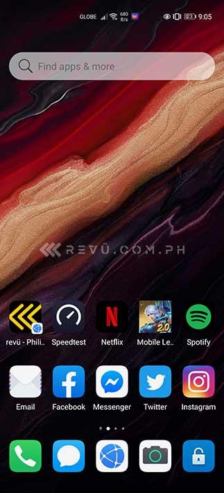 Huawei Petal Search Widget on the phone's home screen via Revu Philippines