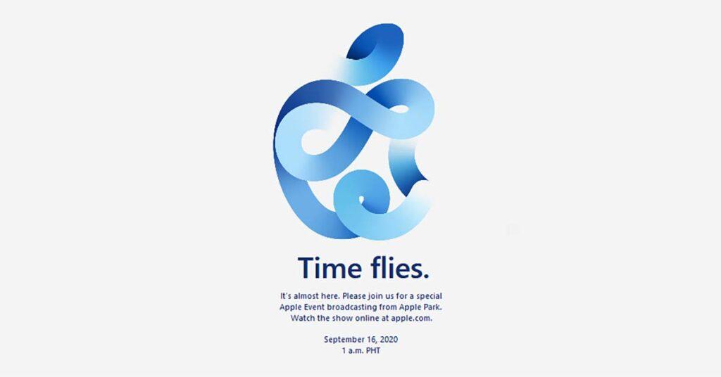 Apple September 15, 2020, launch event invitation via Revu Philippines