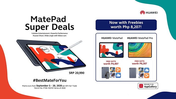 Huawei MatePad tablets super deals: Best Mate For You promo via Revu Philippines