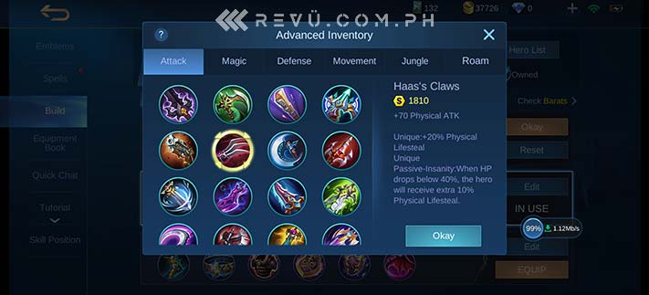 Mobile Legends: Bang Bang or MLBB Project NEXT update new icons via Revu Philippines