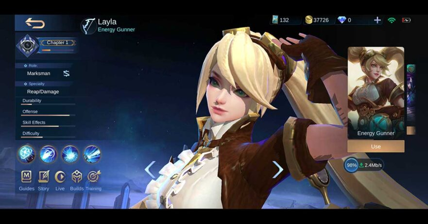 Mobile Legends: Bang Bang or MLBB Project NEXT update revamped hero Layla via Revu Philippines