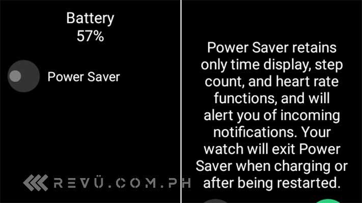 OPPO Watch Power Saver mode screenshot by Revu Philippines