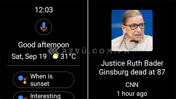 Oppo Watch Google News and Google Assistant screenshot by Revu Philippines