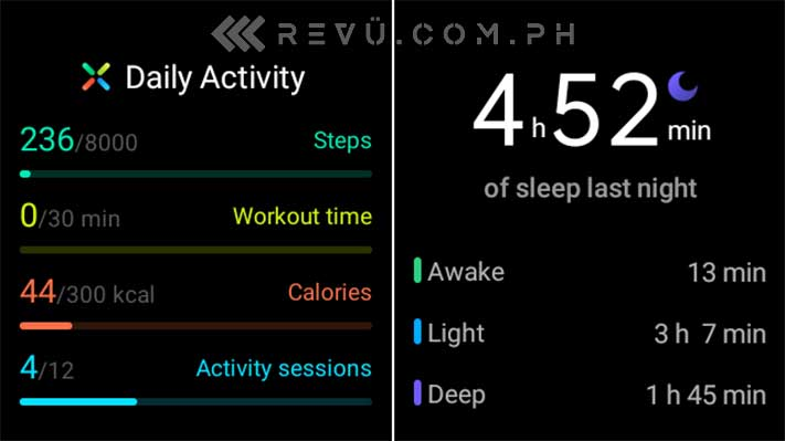 Oppo Watch activity tracking and sleep tracking screenshot by Revu Philippines