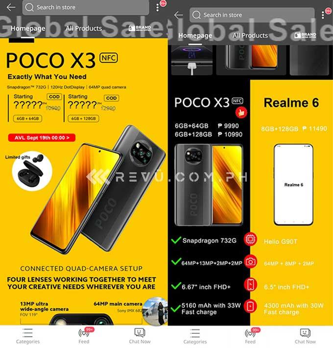 POCO X3 NFC Lazada sale via Revu Philippines