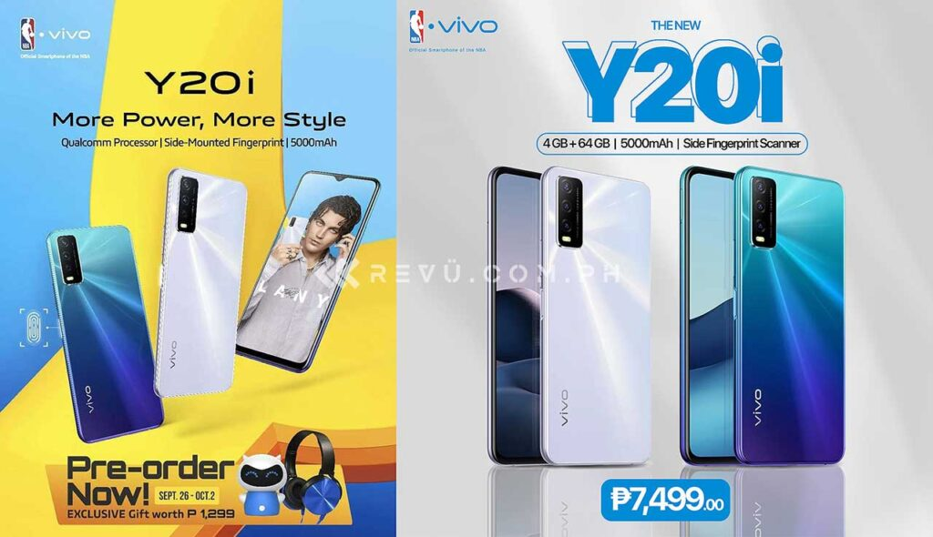 Vivo Y20i price and preorder period and freebies spotted by Revu Philippines