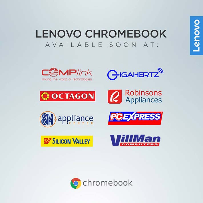 Where Lenovo Chromebook laptops will be available in the Philippines via Revu