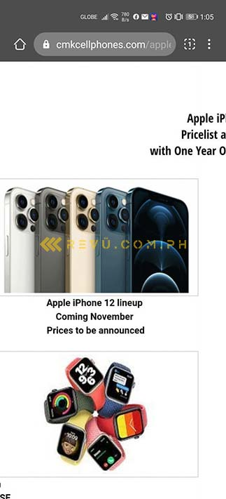Apple iPhone 12 series Philippine availability spotted at CMK Cellphones via Revu