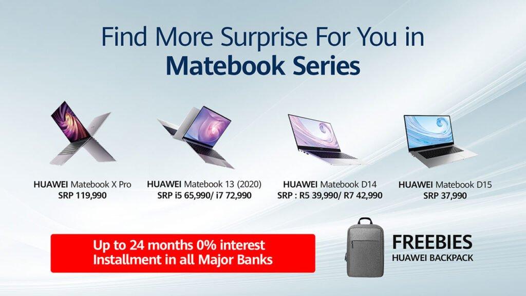 Huawei MateBook series promo and freebies in Oct 2020 via Revu Philippines
