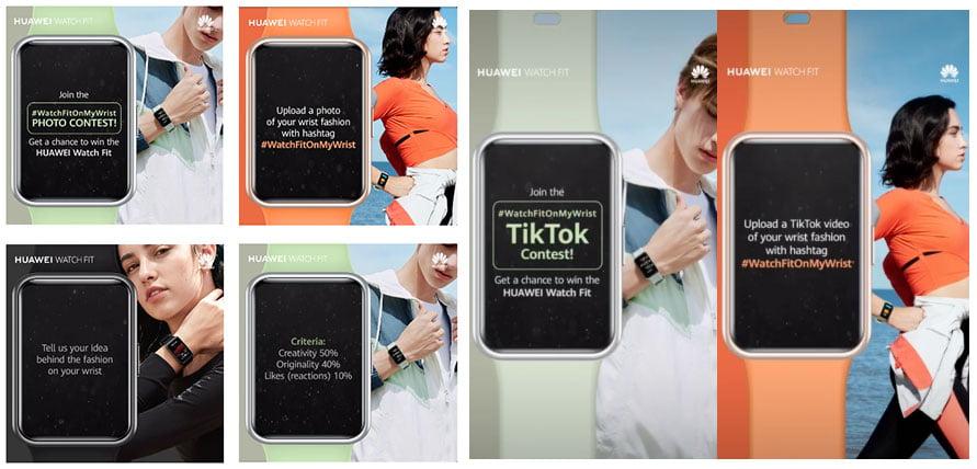 Huawei Watch Fit Facebook and TikTok contest mechanics or details via Revu Philippines