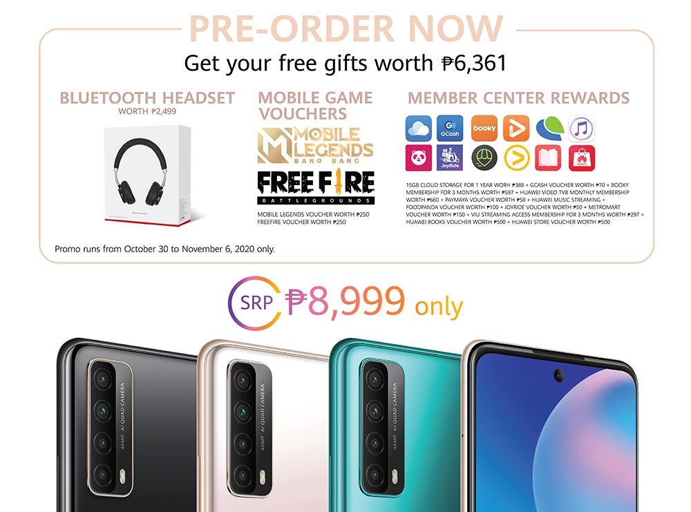 Huawei Y7a price and preorder freebies and dates via Revu Philippines