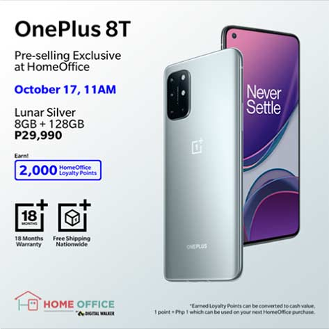 OnePlus 8T discounted preorder price via Revu Philippines
