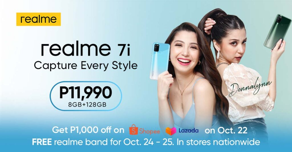 Realme 7i price and sale freebie with Donnalyn Bartolome via Revu Philippines