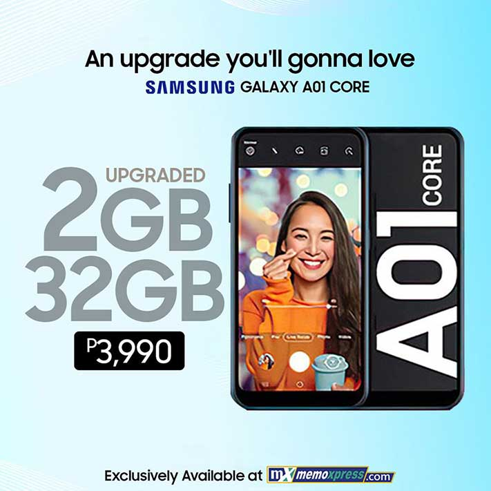 Upgraded Samsung Galaxy A01 Core price and specs via Revu Philippines