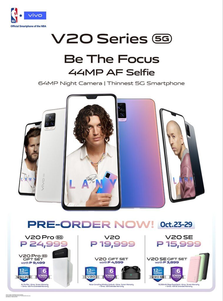 Vivo V20 series updated in-store preorder promo freebies via Revu Philippines