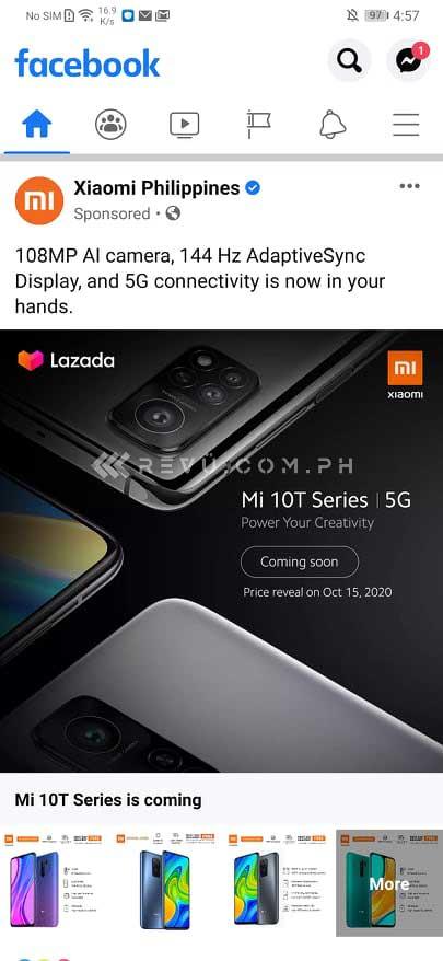 Xiaomi Mi 10T series launch date revealed via Revu Philippines
