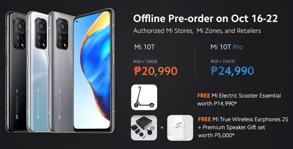 Xiaomi Mi 10T series offline preorder promos via Revu Philippines